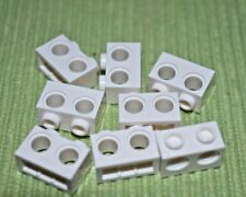 (8) 1x2 White Technic Bricks w/ 2 Holes in Center ~ New Lego Parts ~ Space