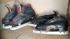 TWO PAIRS OF INTERESTING VINTAGE ICE SKATES.