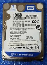 "WESTERN DIGITAL WD1600BEVT BLUE 160GB 2.5"" SATA HDD HARD DISK DRIVE PERFECT"