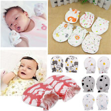 Newborn Cotton  Infant  Face Protection  Baby Gloves Anti Scratch  Mittens