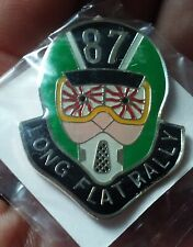 Long Flat Rally 1987 pin motorcycle run
