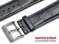 Navy Blue Fits HUGO BOSS Watch Strap Band Genuine Leather 18-22mm For Buckle