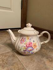 Vintage Sadler Teapot England #3764 Floral Gold Trim (CR)