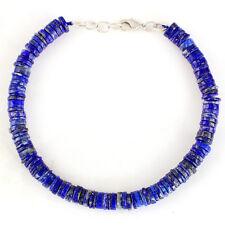 "120.00 Cts Genuine Natural Lapis Lazuli Round Gemstone Beads Bracelet 8"""