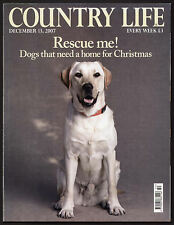 Country Life Dec 2007 NORWICH CATHEDRAL KAILZIE GARDEN RURAL BRITAIN RESCUE DOGS
