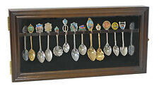 12 Souvenir Spoons Shadow Box Cabinet Rack Wall Display Case Sp12 Waln