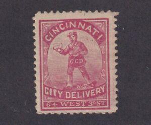 1883 U.S. Scott # 39L1 Cincinnati City Delivery Carrier Stamp Mint