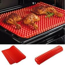 Silicone Pyramid Pan Non Stick Fat Reducing Cooking Mat Oven Baking Tray Sheet