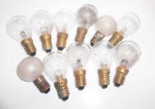 10 alte Glühlampen Glühbirnen RFT 14 V 5 W Langbein Vintage !
