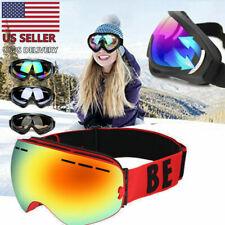 Snow Ski Goggles Men Anti-fog Lens Snowboard Snowmobile Motorcycle Uv400 Usa