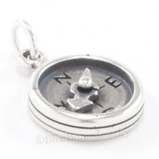 Compass Charm Pendant Nautical Direction 925 Sterling Silver Needle moves .925
