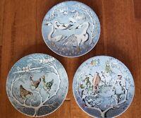 Haviland ,Limoges,3 Christmas plates from 12 days of Christmas Carol,1972,76,77