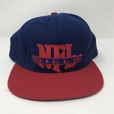 VINTAGE Buffalo Bills Snapback Hat Cap Football Blue Red NFL NUTMEG 90s Retro