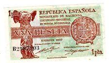 Espagne SPAIN ESPANA Billet 1 PESETA  1937 P94 NEUF UNC