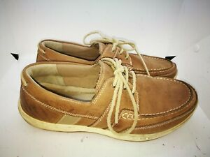 Timberland brown leather casual shoes  size 8