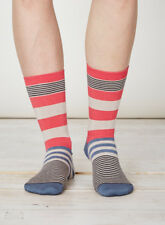 Thought Bamboo Pink Blue Stripes Socks Sustainable Anti-Bacterial Size 4-7