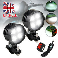 12V 40W LED Motorcycle Motorbike Fog Spot Lights Headlight Driving Lamp & Switch