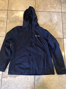 Men's Navy Blue Columbia Raincoat- size XL