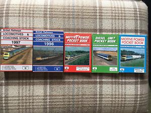 5 x Platform 5 British Railways Books 1991,1992,1993,1996,1997 NO UNDERLININGS!