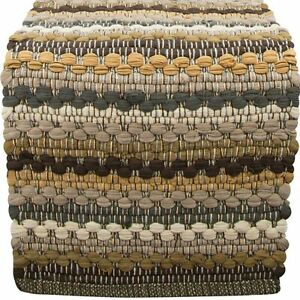 Mineral Stripe Chindi Table Runner