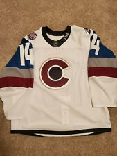 Game worn used colorado avalanche 2016 stadium series hockey jersey meigray nhl