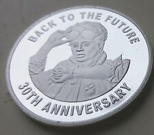 Back to the Future silver coin Delorean Time Travel machine 80 S Retro Amazing US