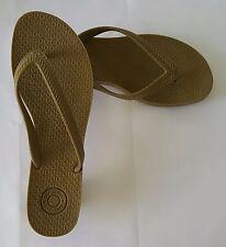 Women's Rubber Tan Thong Pump Heeled Sandal by Gap Jeans Size 9