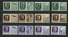 s33547 ITALIA REPUBBLICA SOCIALE 1944 MNH Propaganda di Guerra 12v #25/36