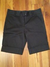 NWOT  The Limited  SZ 6 Cuffed Black Bermudas.   J30