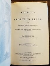 The Shot-Gun and Sporting Rifle by Stonehenge 1859 1st Ed Leather Hunting & Game