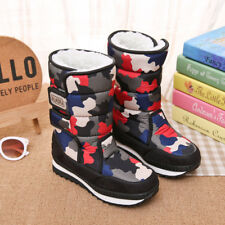 Kids Girls Boys Waterproof Snow Boots Thick Winter Warm Outdoor Mid-Calf Shoes