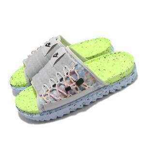 Nike Asuna Crater Slide Grey Volt Men Women Unisex Sandal Slip On DJ4629-001