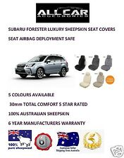 Sheepskin Car Seatcovers for Subaru Forester , Seat Airbag Safe, 5 Colours.30mm