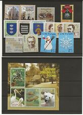 Lithuania 2011 four miniature sheets, and 30 stamps  all MNH