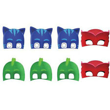 PJ MASKS PAPER MASKS (8) ~ Birthday Party Supplies Favors Costume Disney Junior
