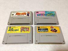 Lot of 4 Snes Super Famicom games, Mario Kart, Mario Rpg, Mario World 1 & 2