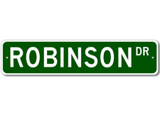 ROBINSON Street Sign - Personalized Last Name Sign