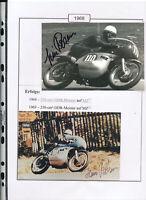 565228 / Motorrad Beleg Autogramm Heinz Rosner