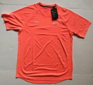 Nike Rafa Nadal Aeroreact Orange Tennis Shirt Crew CI9152 854 Mens Medium