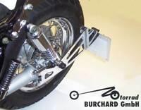 Seitlicher Kennzeichenhalter Chrom Yamaha XV Virago mit TÜV Teilegutachten