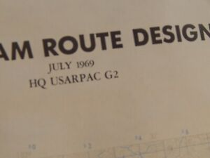 SOUTH VIETNAM MILITARY MAP, VERY DETAILED , ROUTE DESIGNATIONS,FEB 1968,