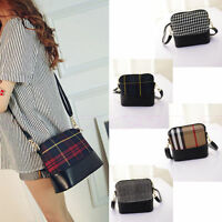 Women Shoulder Bag Tote Purse Handbag Messenger Crossbody Plaid Satchel Purse SH