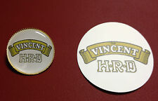 Vincent HRD.`BLACK SHADOW` gold  plated motorcycle badge  + FREE HRD STICKER