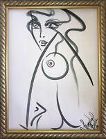 Margarita Bonke Malerei PAINTING erotic EROTIK FRAU WOMEN akt nu art black nude