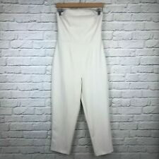 ASOS Ladies White Jumpsuit Strapless Size 10 Summer Smart Tapered Leg