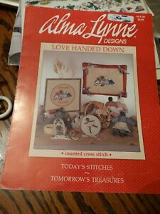 """Counted Cross Stitch Pattern """"Love Handed Down""""  by Alma Lynne Designs - 1985"""