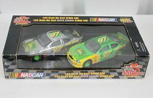 Vtg Racing Champions John Deere Die Cast Cars 2 Pack 97 Nascar 1999 Chrome 1:24