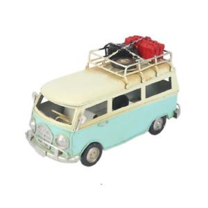 16cm Decorative Metal Vintage Light Blue Camper Van Model 468023 Collectable