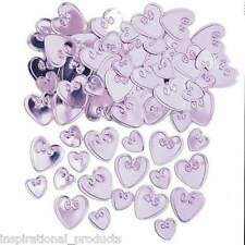 Amscan Embossed PALE PINK LOVING HEARTS Table Confetti 14 Gram Party Sprinkles