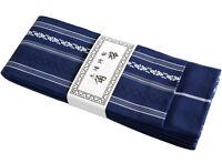 Japanese Traditional KAKU OBI Kimono Belt Cotton 100% Navy Made in JAPAN